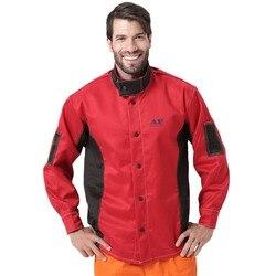 Chaqueta de soldadura, ropa de trabajo resistente a la abrasión y al calor, chaqueta de trabajo de algodón ignífuga para seguridad del soldador