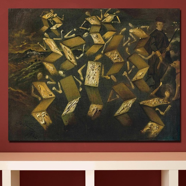 Salvador-dali twist in the velazquez studio painting For Living Room Home Deco Oil Painting On Canvas Wall Painting No Framed 2