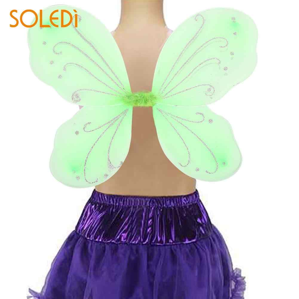 cb5c8d7ed4be 42*31cm Butterfly Wings NEW Halloween Elf Fairy Wing Beautiful Gift Dress  Up Costume