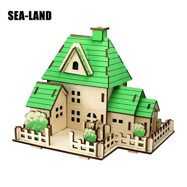 3D bricolage puzzles en bois Jouet Pour Famille Jeux Doux Dollhouse puzzle éducatif jouet montessori Défi IQ Un Passe-Temps Cadeau Pour Enfants