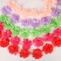 12 stücke (1 yard/lot) blumen 3D Chiffon Cluster Blumen Spitze Hochzeit Kleid Dekoration Spitze Stoff Applique Trim DIY Nähen Liefert