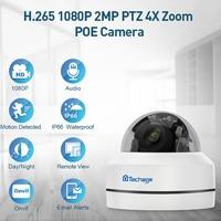 H.265 1080 P PTZ POE IP Kamera 4X Zoom Mini Speed Dome Indoor Outdoor Wasserdichte 2MP CCTV Sicherheit P2P Onvif video POE Kamera-in Überwachungskameras aus Sicherheit und Schutz bei