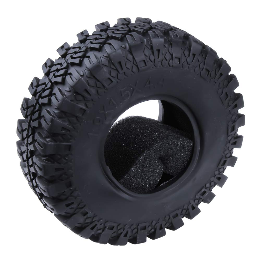 RC 1.9 beadlock wheelsTires All Terrain Tyres with Foam Inserts for 1/10 Scale RC Rock Crawler Truck Off Road Replacement image