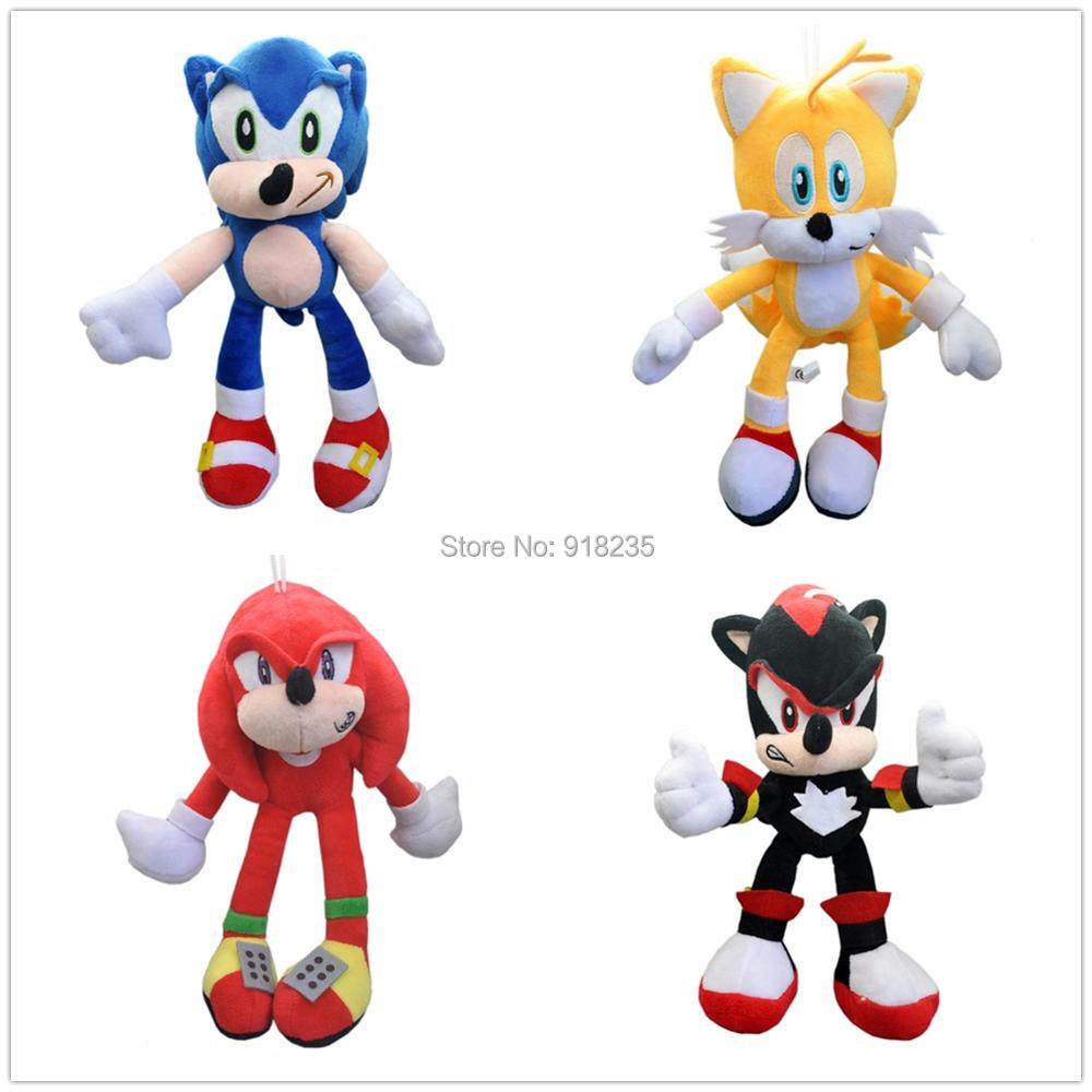 10 Lot 4 Styles The Echidna Tails Knuckles Shadow 10 Plush Doll Pendant Stuffed Toys