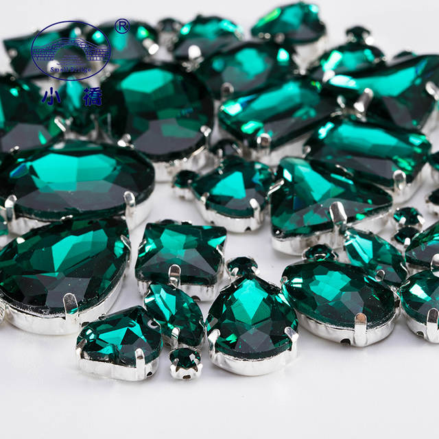 f541b90f45 US $4.22 35% OFF|Emerald Green Glass Rhinestones For Clothing Loose  Flatback Dress Stones Decorative Crystal Sew On Rhinestones 50PCS/PACK  S045-in ...
