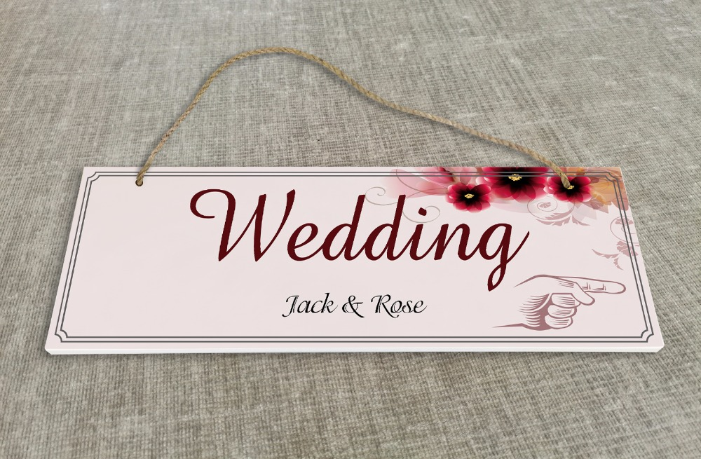 Personalized Outdoor Wedding Reception & Ceremony Decoration Directional Signs wedding sign board Red flower SB007H ...
