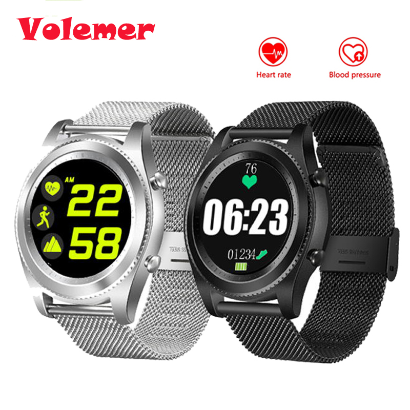 Volemer S9 NFC MTK2502C Smartwatch Heart Rate Monitor Bluetooth 4.0 Smart Watch Bracelet Wearable Devices For IOS Android dtno 1 s9 gps mtk2502c touch smartwatch heart rate monitor bluetooth 4 0 smart watch bracelet wearable devices for ios android