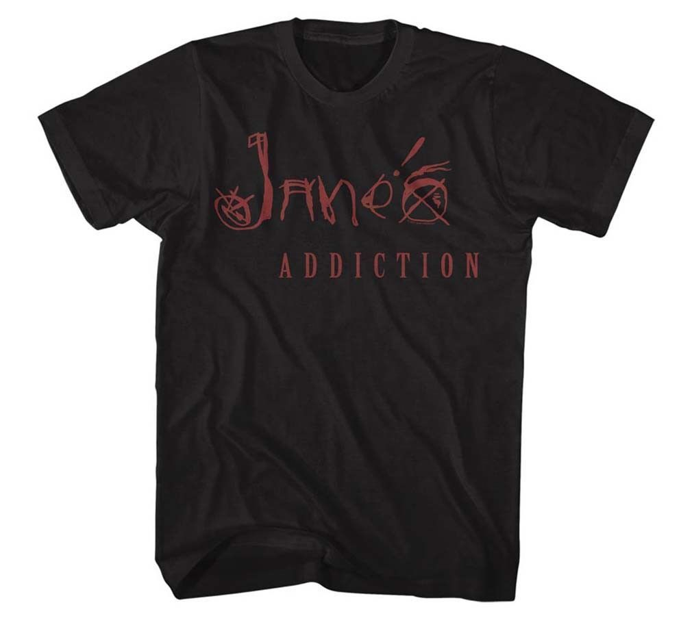Janes Addiction Logo Rock Music Band T-shirt New Fashion Mens Short Sleeve T Shirt Cotton T Shirts Hot Cheap MenS