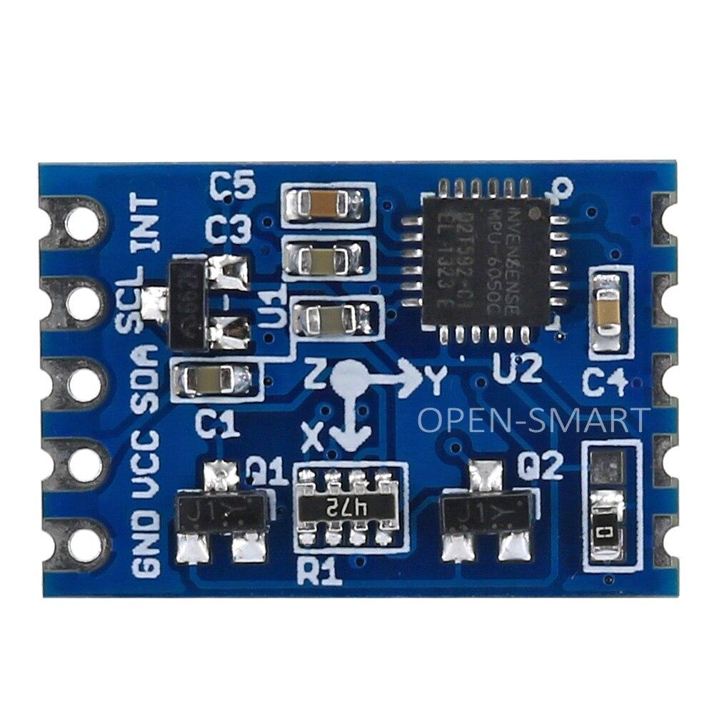 OPEN-SMART MPU6050 6 DOF 3-Axis Gyro 3-Axis Digital Gravity Sensor I2C Triple Axis Accelerometer Module Tilt Sensor For Arduino