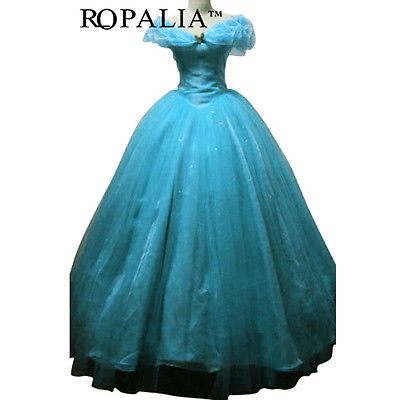 Hot Movie Princess Dress Prom Gown Cosplay Costume Adult Girl
