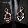 NEWBARK Vintage Drop Earrings 3pcs Floating Big Circles Dangling Earring For Women Fashion Jewelry Rose Gold Plated Brincos Gift