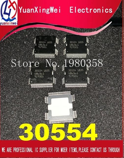 100% Новинка 5 шт./лот 30554 QFP64 чип блока управления питанием для кузова автомобиля ME9.7 ECU Драйвер IC для ремонта Mer cedes