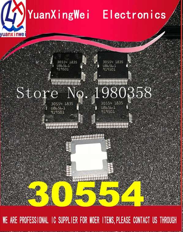 100% New 5PCS/LOT 30554 QFP64 Car body computer board power  driver chip ME9.7 ECU driver IC For Mer cedes RepairReplacement Parts
