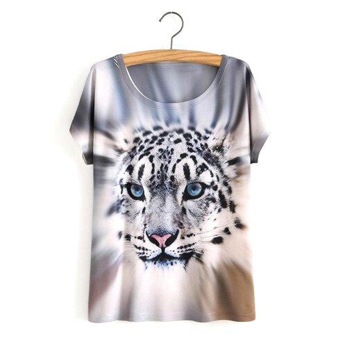 HTB1.fLtOVXXXXXlXXXXq6xXFXXXd - White Tiger 3D Print T-Shirt Women Summer Clothes