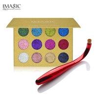 IMAGIC Glitters Eyeshadow Palette With Unique Radian Nylon Brush Makeup Cosmetics Eyeshadow Magnet Palette Tools