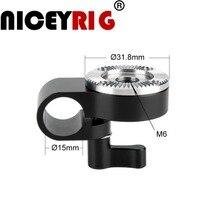 NICEYRIG 15 мм рельсовый Зажим адаптер с креплением ARRI для dslr камеры на плечо крепление для камеры с деревянной ручкой крепление EVF