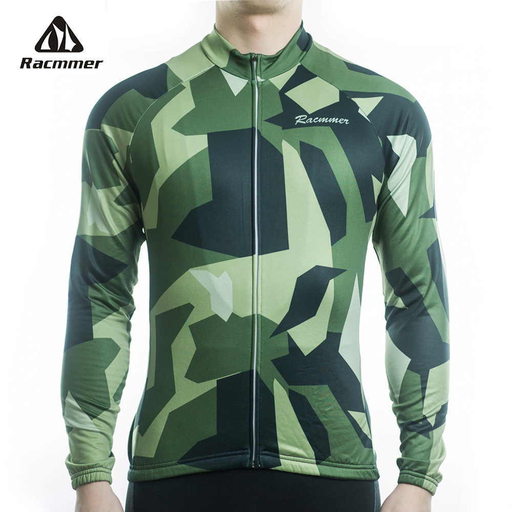 цена на Racmmer 2018 Mens Long Sleeve Cycling Jerseys Mtb Cycling Clothing Bicycle Maillot Ciclismo Sportwear Bike Clothes #CX-30