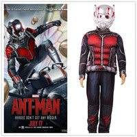 Child Deluxe Ant Man Muscle Costume Boys Marvel New Superhero Cosplay Halloween Fancy Dress 3pcs Outfit