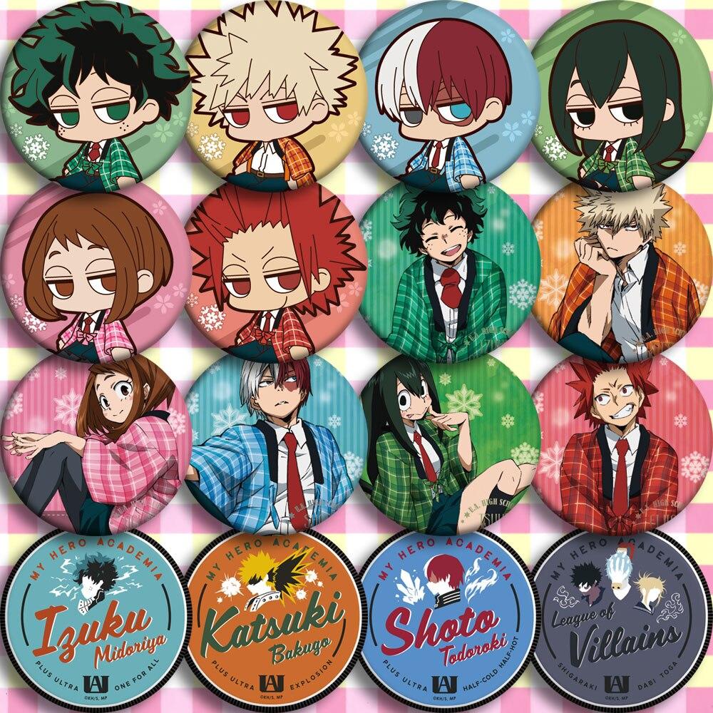 Gift My Hero Academia/Boku No Hero Academia Uraraka Ochako Bakugou Katsuki Todoroki Midoriya Izuku Shoto Asui Tsuyu Emblem Badge