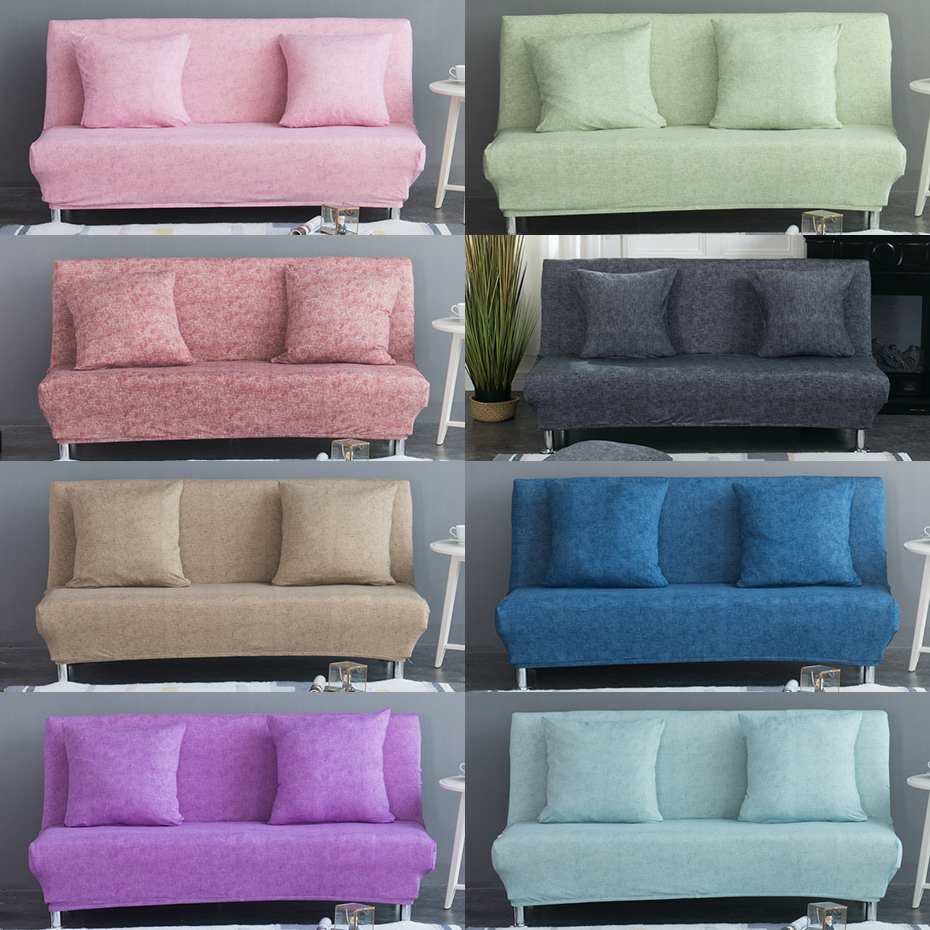 160-195cm Armless Sofa Bed Cover Folding seat slipcovers Modern stretch covers cheap Couch Protector Elastic bench covers
