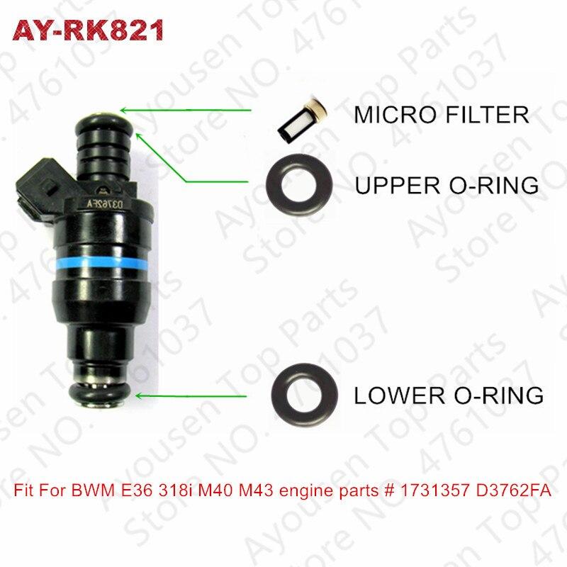 8Sets Fuel Injector Repair Service Kits For BWM E36 318i M40 M43 Engine Parts # 1731357 D3762FA(AY-RK821)8Sets Fuel Injector Repair Service Kits For BWM E36 318i M40 M43 Engine Parts # 1731357 D3762FA(AY-RK821)