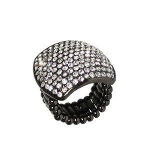 Gothic Rhinestone Ornament EMO Punk Elastic Ring Jewelry    PZX-67