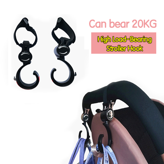 2 PCS/LOT Baby Stroller Accessories Hook Multifunction Baby Stroller Black High Quality Plastic Hook DropShip