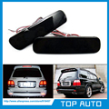 LY004-2  Black Smoked Lens Bumper Reflector LED Tail Brake Light for Lexus LX470 Toyota Land Cruiser 98-07