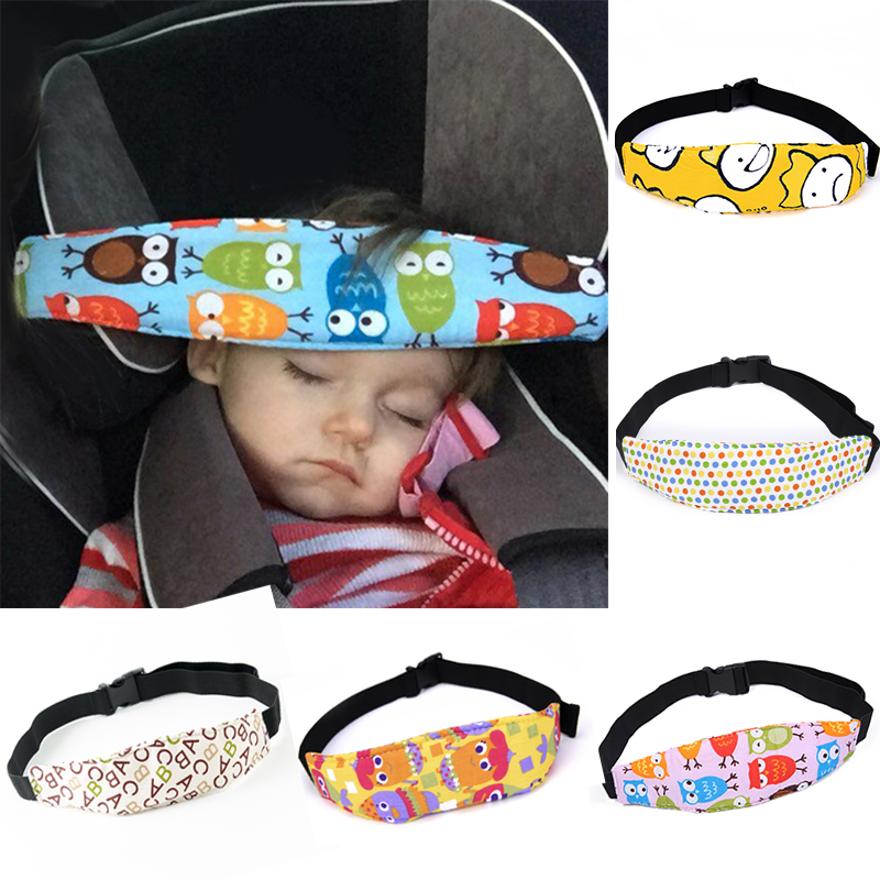 HOT Safety Belt Strap Safety Baby Stroller Car Seat Protective Band Babies Anti-shaking Sleep Nap Aid Head Fasten Support Holder image