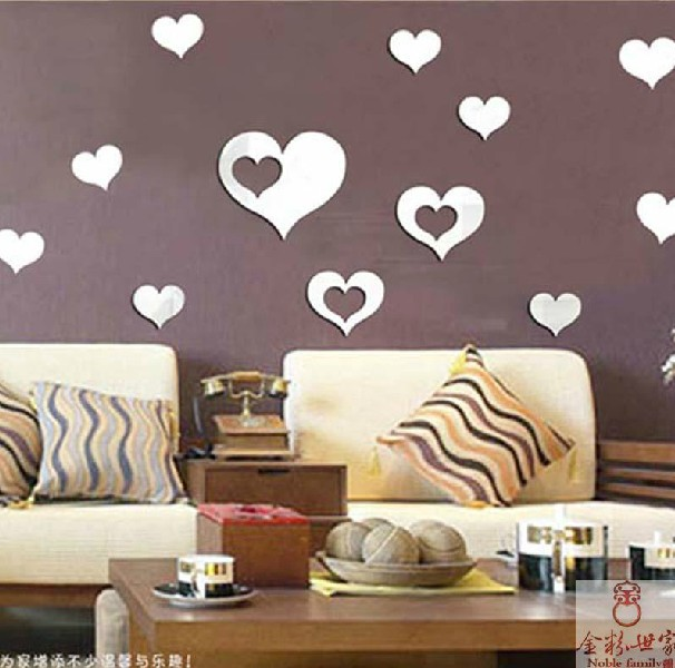 Specchi per pareti specchio linea stones da parete con for Decorazione stanza romantica