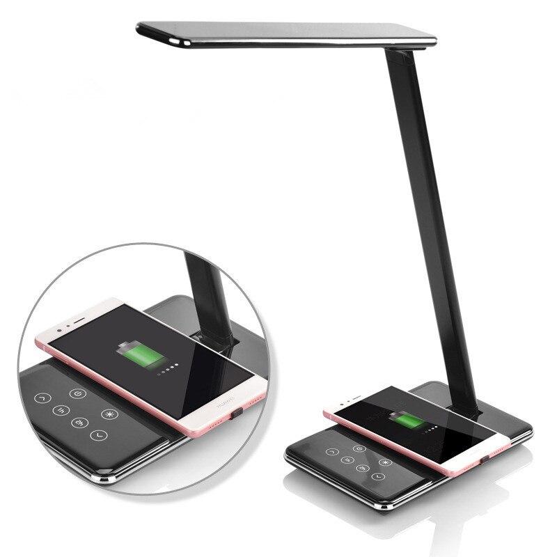Wireless Charger LED Table Lamp Folding Eye Protection LED Desk Lamp with USB Output LED Light Lamp