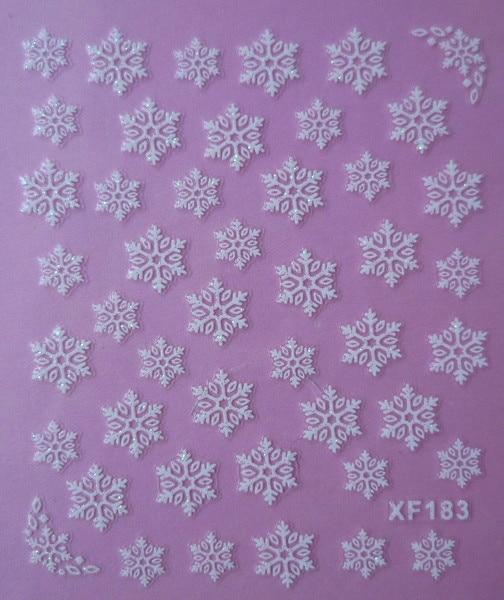 white 3D snowflake design Water Transfer Nails Art Sticker decals lady women manicure tools Nail Wraps Decals 2016 1 sheet white color nails art sticker winter style white snowflake nail water transfer sticker fingernails decals