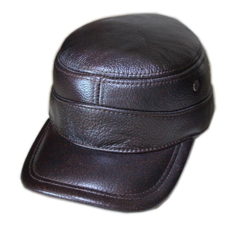 Распродажа популярные шапки из натуральной кожи s зимние теплые шапки регулируемая защита ушей Премиум качество шапка бесплатная доставка