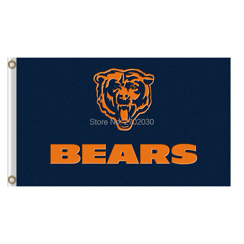 Logo Design Chicago Bears Flag Sport Banners Football Team Flags 3x5 Ft Super Bowl Champions Banner Bear