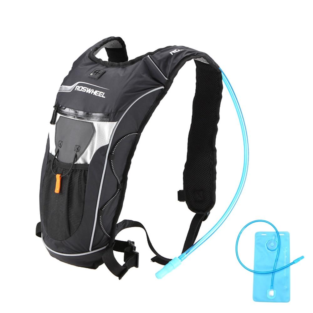 Roswheel Men Cycling Backpack Waterproof Outdoor MTB Bike Hydration Rucksack Lightweight Sport Student Travel Backpack Water Bag