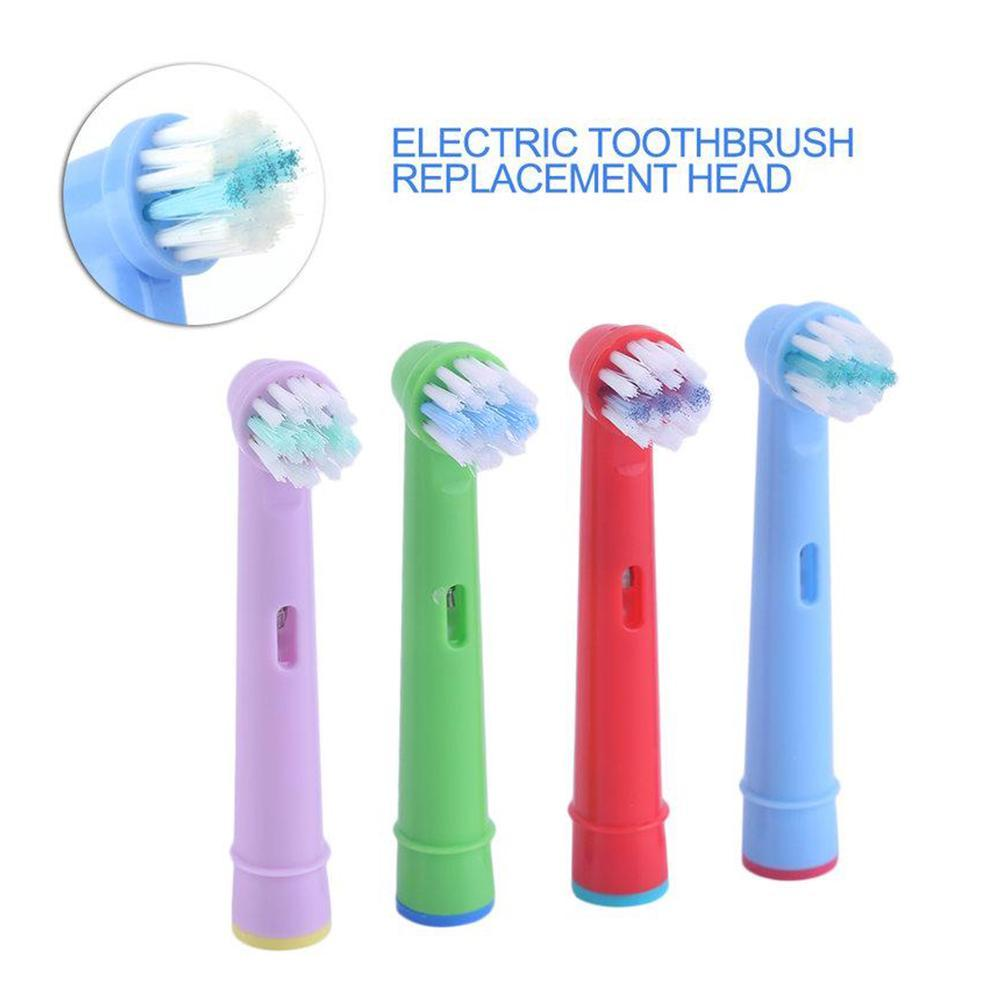 4pcs/lot Kids toothbrush head Soft bristles Replacement Brush Heads For Oral-B Electric Toothbrush replace brush for Dental care image
