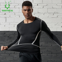 52b8e7e230ffd8 ... rękawem koszulki krótkim szkolenia koszykówka. Vansydical Mens  Compression Tights Running Sports Tops Short Long Sleeve Gym T Shirts  Basketball Training ...