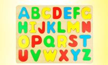 Exempt postage, letter puzzles, wooden 26 English letters finger board, childrens educational toys, wholesale