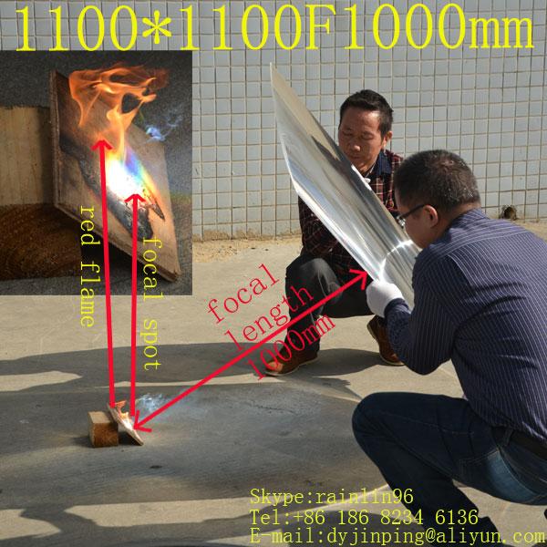 Free Shhipping 1100*1100mmF1000mm Fresnel Lens For Solar Energy,super Big Lens,solar Collecting Lens