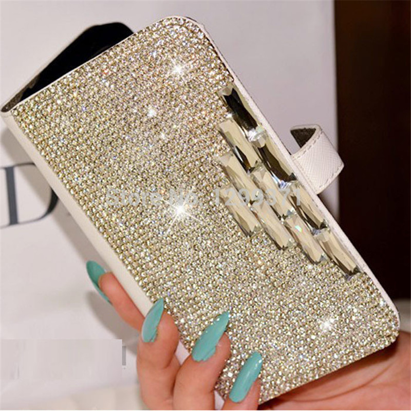 Bling Diamond Kožené pouzdro pro iPhone 11 Pro XS Max XR X 8 7 6 6S Plus Samsung Galaxy Note 10 9 8 S20 Ultra S10E / 9/8 Plus