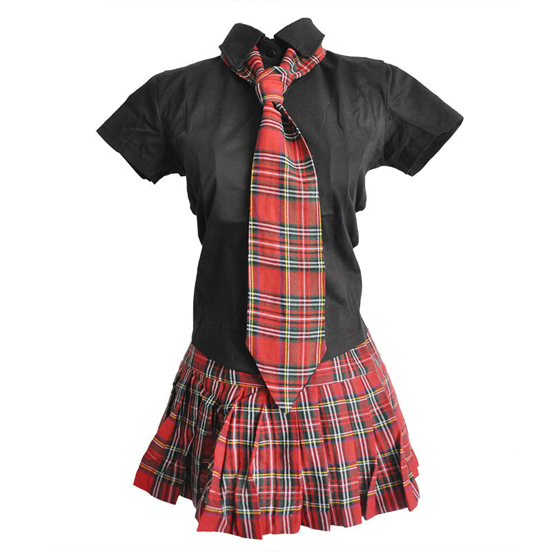 New Women Sexy Cosplay Lingerie Schoolgirl Student Uniform Costumes Outfit Sets Snap -6987