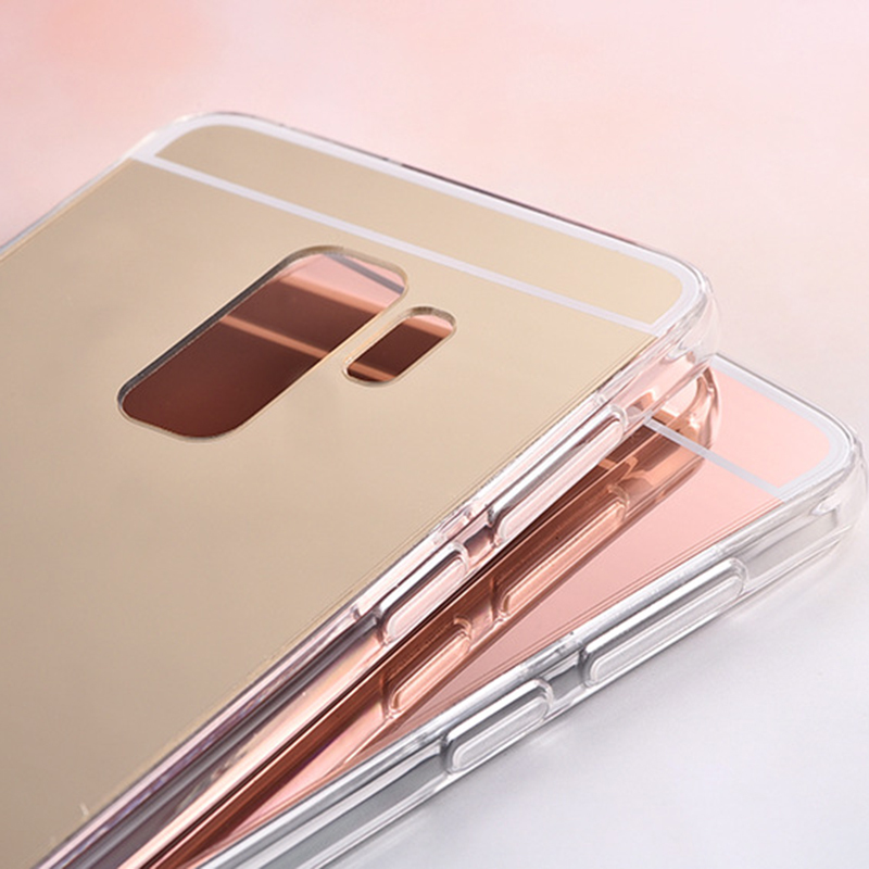 For Samsung Galaxy A6 2018 Case Plus Fashion Mirror Silicon TPU Back Cover A600F