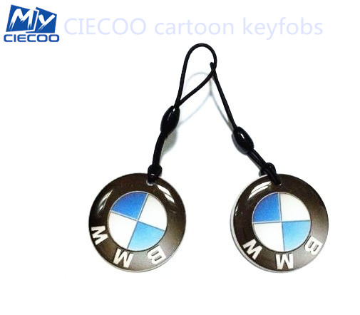 free shipping   125Khz RFID Cartoon BMW Keytags  Writable Rewrite Proximity ID Token Tag Key Keyfobs 20pcs/lot hw v7 020 v2 23 ktag master version k tag hardware v6 070 v2 13 k tag 7 020 ecu programming tool use online no token dhl free