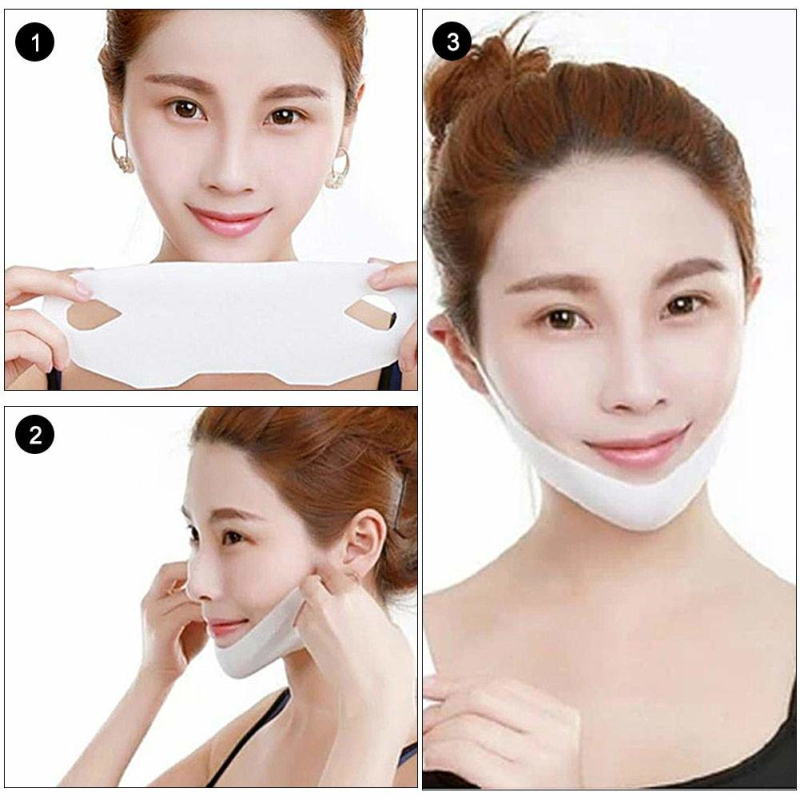 7 Styles Choose Lifting Over Ear Facial Mask Prevent Falling Off Face Slim Chin Lift Bandage Mask Double Layer V Shaper TSLM1