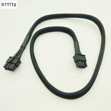 블랙 650mm sleeved 8pin cpu 전원 케이블 8 핀 ~ 8 (4 + 4) 핀 corsair rm650x rm750x rm850x rm1000x 용 모듈 형 전원 공급 장치 케이블