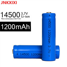 6PCS TBUOTZO 14500 Rechargeable Battery li ion 1200mAh Batteries Bateria Li-ion Lithium for Flashlight