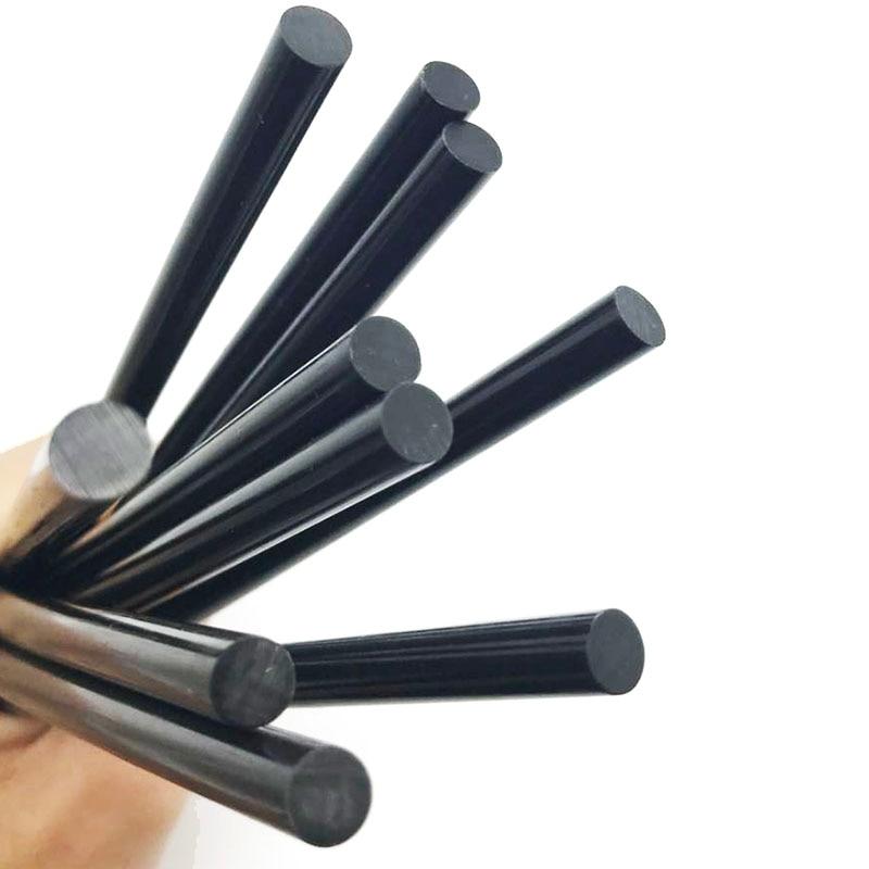 10 шт., черные клеевые палочки 7 мм для электрического клеевого пистолета, автомобильные ремонтные палочки для аудио, клейкие уплотнительные ...
