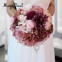 MagiDeal Splendida Vintage Wedding Bridal Garofano Artificiale Daisy Bouquet Legato A Mano Fiore per L'artigianato Fotografia Puntelli Decorazione