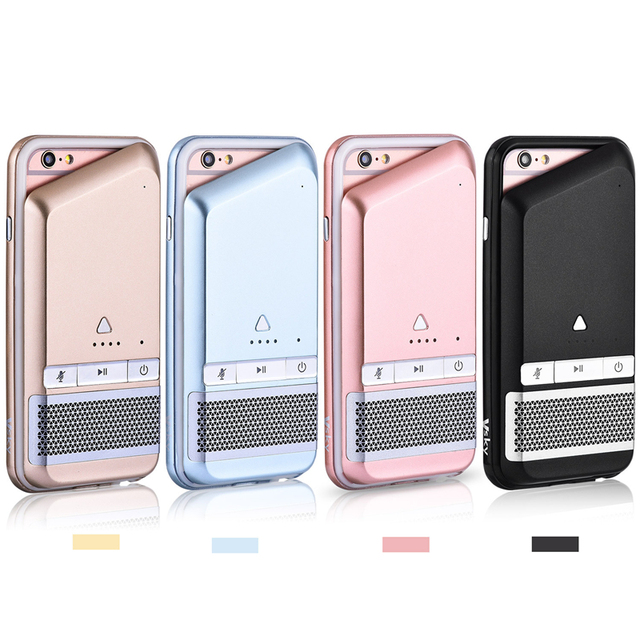 pretty nice cb9bc 3d093 1800mAh Multi function Battery Charger Bluetooth Speaker Cover Case ...