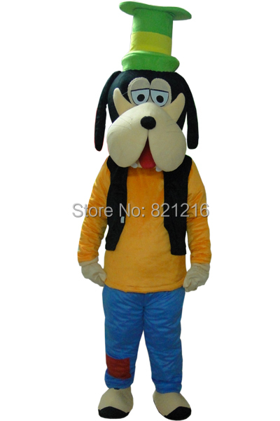 New Adult Goofy Dog Mascot Costume Fancy Party Dress Suit Carnival Costume Free Shipping
